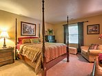 Cozy up in this comfortable queen bed when you're ready to retire for the evening.