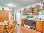 Prepare all of your meals in the fully equipped kitchen.