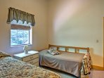 Morning sunshine illuminates the first bedroom at the start of each day.
