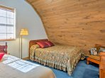 Three guests can sleep comfortably in the 2nd bedroom, which has a full-sized bed and a twin bed.