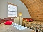 The cozy loft boasts 2 twin beds.
