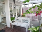 Rice Field Terrace:  Semi open relaxation area, ideal for smokers with full view of the richfield