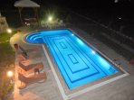 Night time poolside