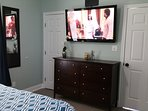 Master Bedroom: 50in TV with Roku device.