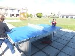 New outdoor table tennis table  .....  great fun x