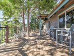 Enjoy spectacular mountain views from the expansive wrap-around deck at this great Running Springs vacation rental...