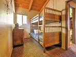 Kids will love climbing into the  twin-over-twin bunk beds.
