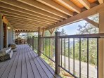 Admire the California mountain weather from your private covered deck.