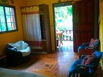 Main Room showing doorway to front balcony - Hummingbird Suite - Vilcabamba