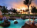 The beautiful Westin Nanea Ocean Villas at sunset!