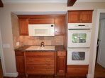 Double oven and flattop stove