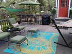 comfy patio furniture and hammock