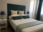 Main Room, with beds of 2 mts long and two diferent types of Pillows.