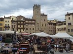 Antiques market in Arezzo