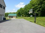 Basketball on our side yard