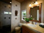 Natural Stone Bath with Walk In Shower
