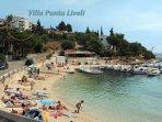 Villa  Punta Liveli. Beach of Mavarshitsa bay