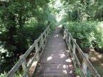 Bridge over the River Seaton on a 15 minute level walk to Seaton Beach.