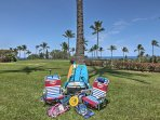 Take advantage of the complimentary boogie boards, coolers, snorkeling equipment and pickle ball.