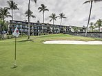 The condo is situated right on a beautiful golf course!