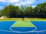 Basketball court  at a park close by the apartment