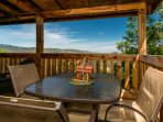 Relax with your morning coffee on the porch