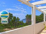 GREEN SUITE - terrace. Beaches on Ratac Peninsula,  50 meters away!