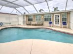 The pool goes up to 6 feet deep and poolside seating makes this space perfect for the whole family to spend the day...