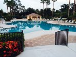 Community pool within walking distance of condo