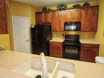 Spacious Kitchen w/Updated Black Appliances