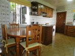Kitchen, with Dining Area.Full picnic set for Pool/Beach use.