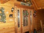 Adventurewood Log Cabin Entrance