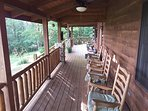 Relax on the spacious front deck. Enjoy the view and frequent visits from deer and other wildlife.