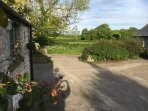 The view West from Starling Cottage across the neighbouring farm land