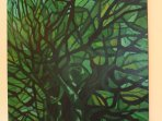 Big Green Tree - original art - we can arrange shipping for you.