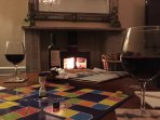 Enjoy winter walks and come back to our log burner