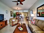 Open floor plan is great for family interaction.