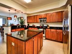 Spacious kitchen with all the conveniences of home