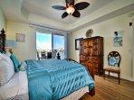 Master bedroom has private balcony access.