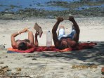 Relax on the beach in front of your cabina :)