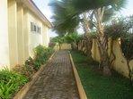 Accra Serviced Villas - side walk around Villa.