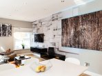 Living room with high-end gadgets