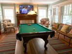 It never rains on Cape Cod – but just in case,there is the Pool table plus a selection of games and reading...