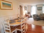 Dining area open to living - 11 Marshview Road Chatham Cape Cod New England Vacation Rentals