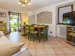 interior dining room with flatscreen TV