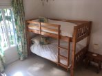 Bunk bed room with juliet balcony