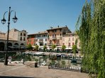 The old port of Desenzano just a 15-minute walk