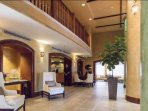 Beautifully furnished lobby with concierge and business center.