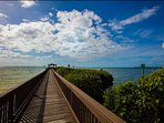 Take a peaceful walk and admire your surroundings along the private boardwalk and marina.