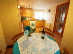 Kitchen diner at your scenic self catering accommodation near Betws y Coed